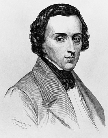 Frederic Chopin (1810-1849), Polish-French pianist and composer during the Romantic period.