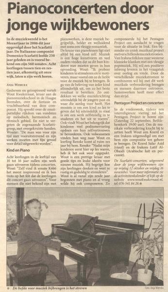 Pianoconcerten door jonge wijikbewoners